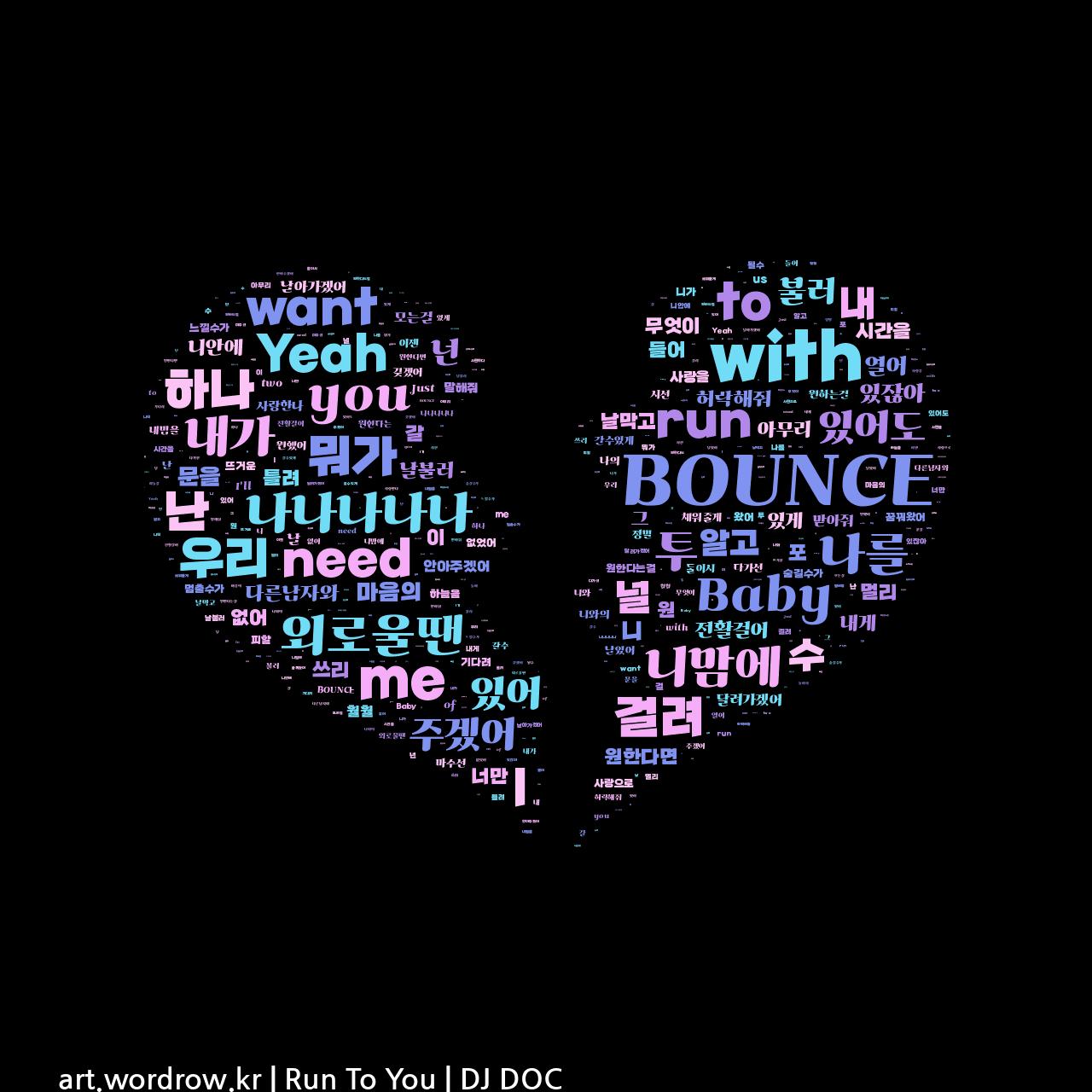 워드 클라우드: Run To You [DJ DOC]-76